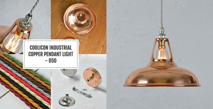 copper pendant lighting | blackstone | handmade bespoke kitchens